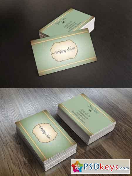 Vintage Elegant Business Card 672108