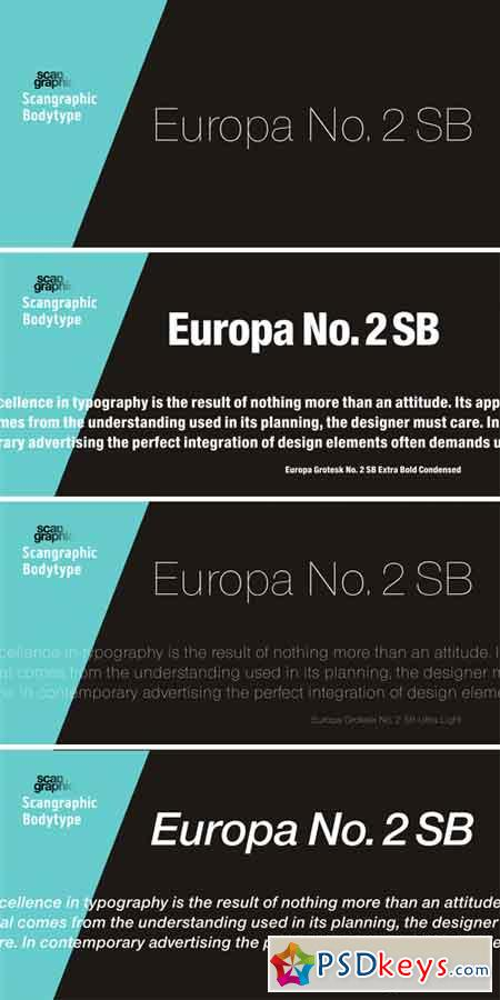 Europa Grotesk No  2 SB Font Family » Free Download