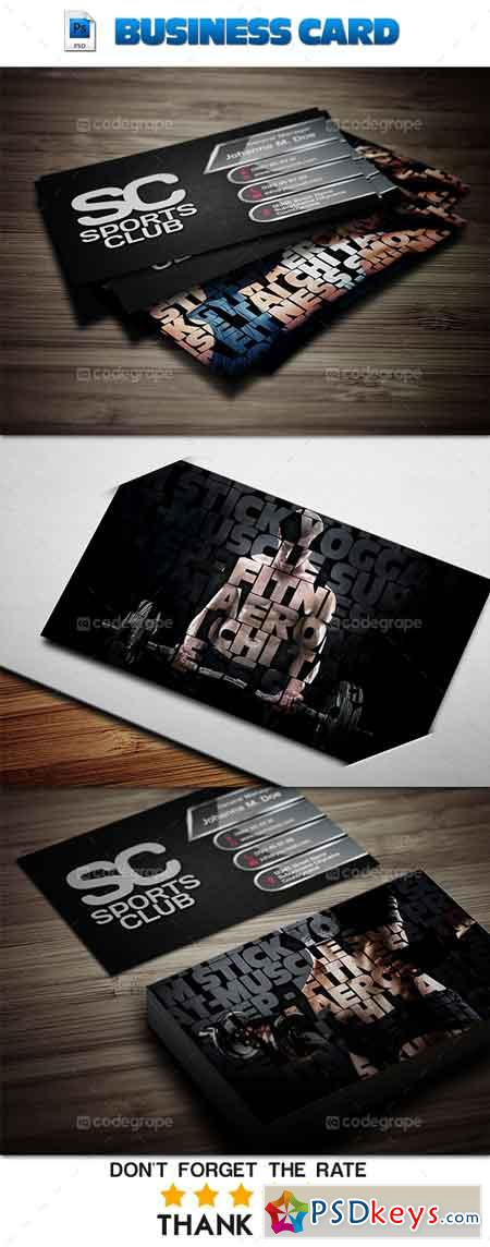 Sports Business Card 6026 Free Download shop Vector