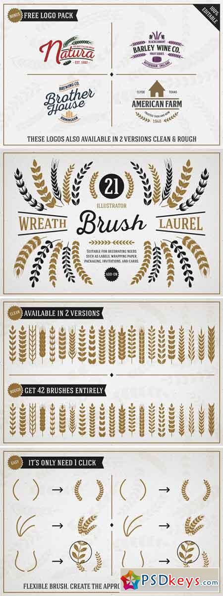 Wreath & Laurel Brush Vol. 1 113076