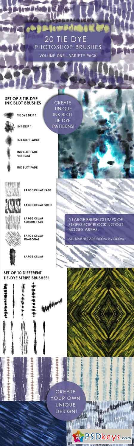 Digital Tie Dye Brushes Vol. 1 665161