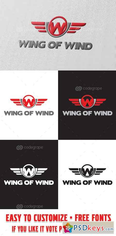 Wing of Wind Logo Template 6100