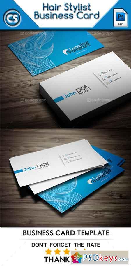 Hair Stylist Business Card 6007