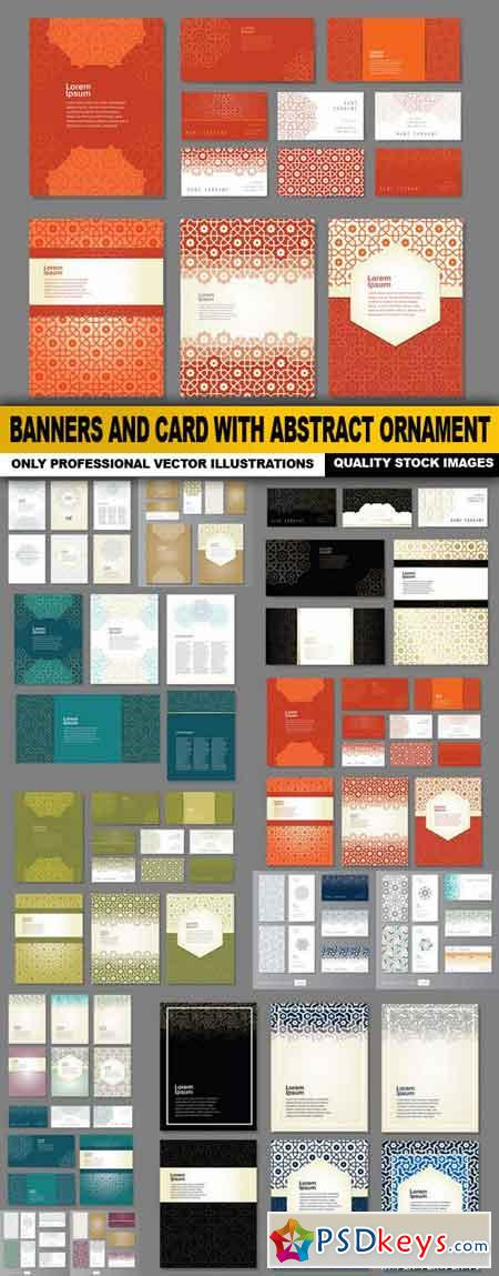 Banners And Card With Abstract Ornament - 13 Vector