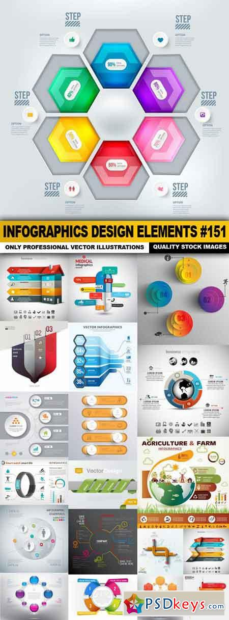 Infographics Design Elements #151 - 20 Vector