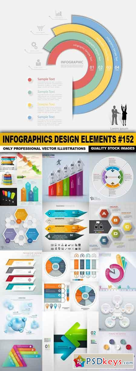 Infographics Design Elements #152 - 20 Vector