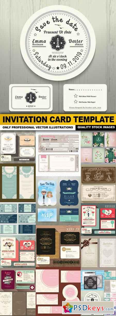 Invitation Card Template - 20 Vector
