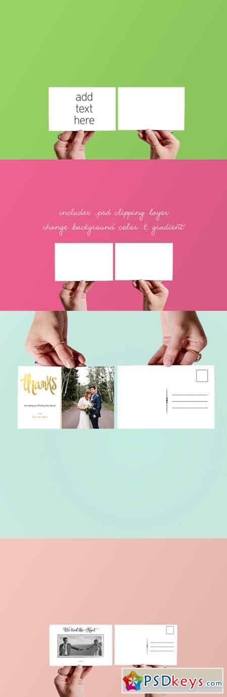 Hands Holding Cards Mockup 661641