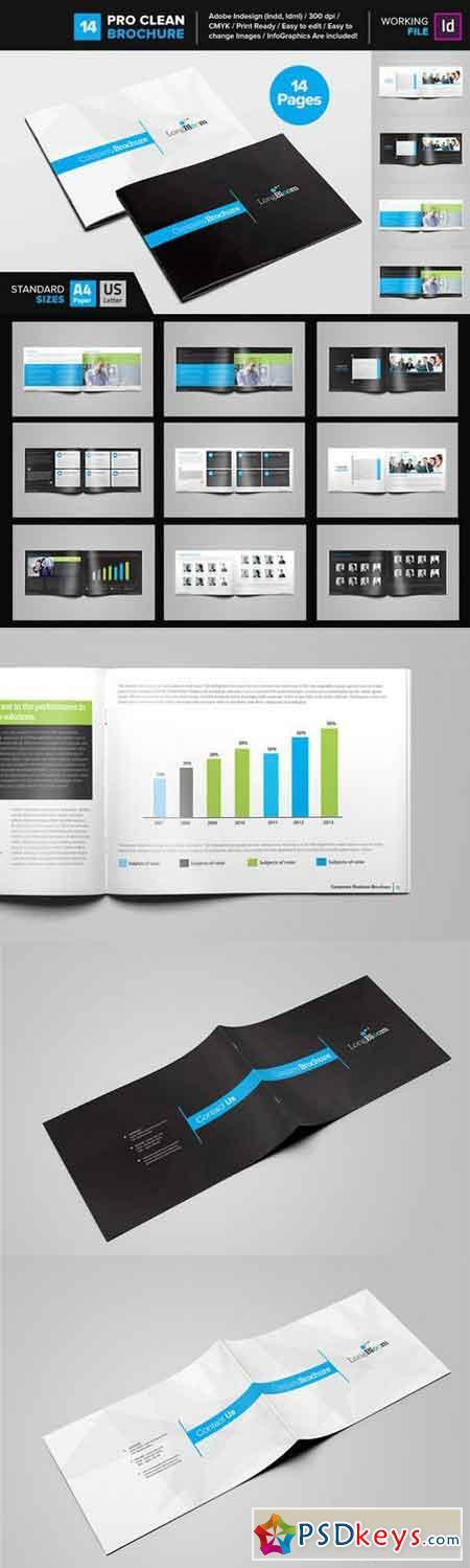 Clean Brochure Template 14 668672