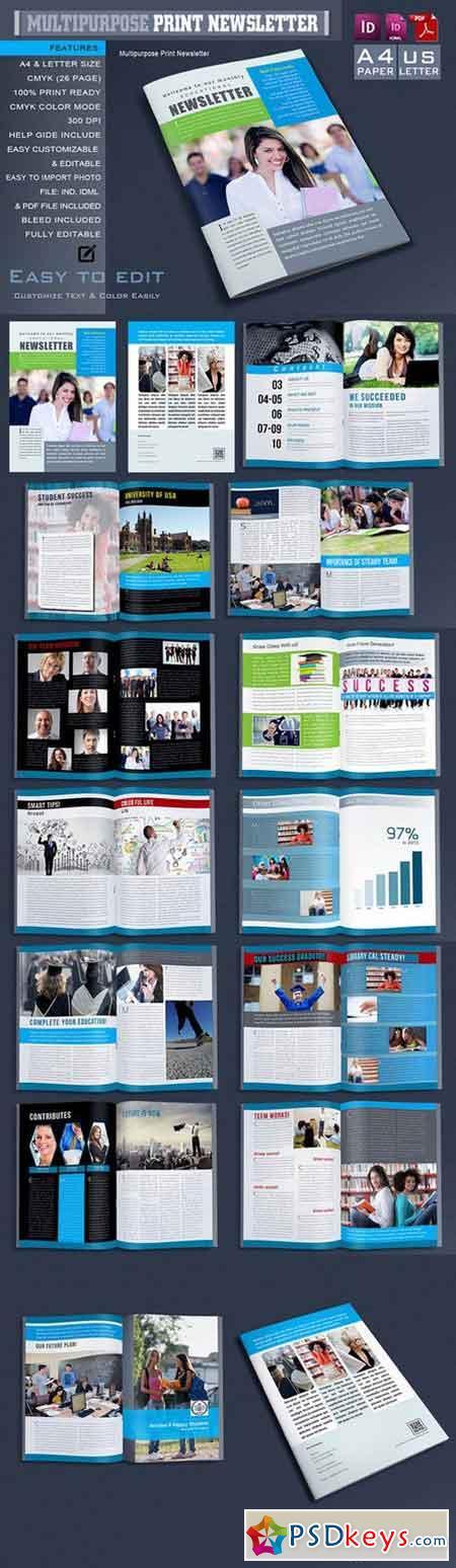 Multipurpose Print Newsletter 668782