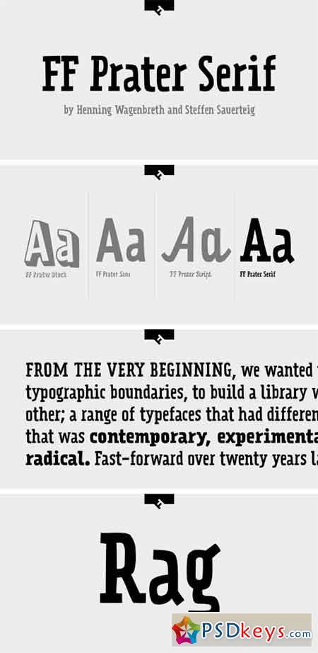 FF Prater Serif Font Family