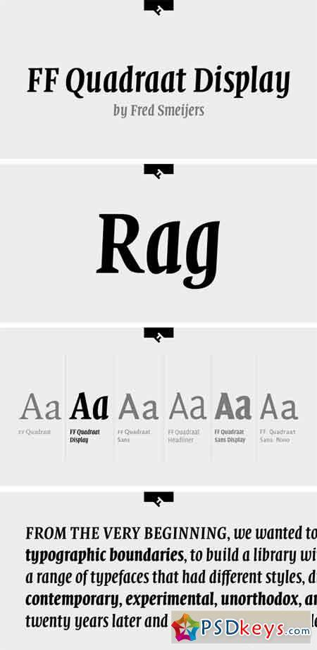 FF Quadraat Display Font Family