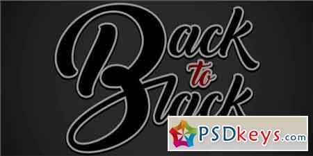Back to Black Font