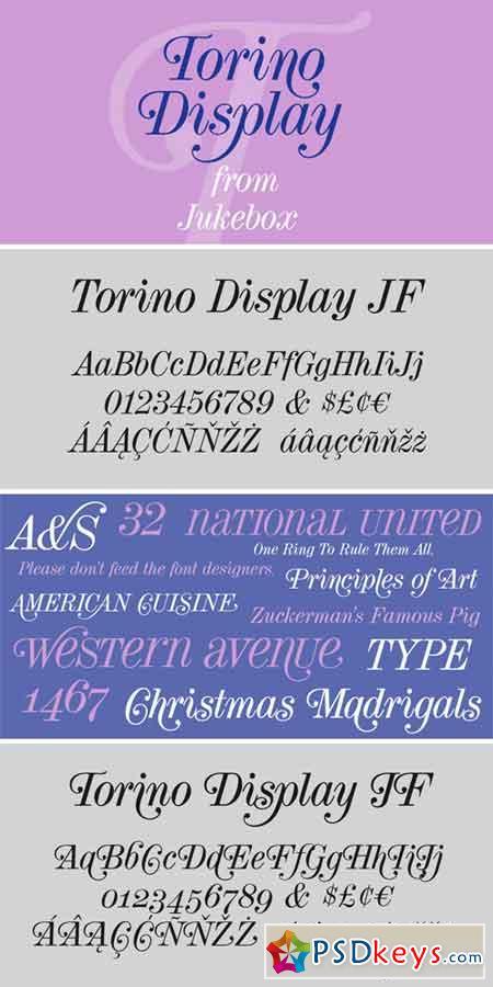 Torino Display JF Pro Font