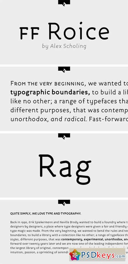 FF Roice Font Family