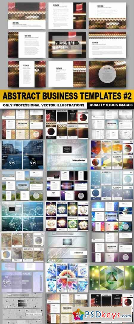 Abstract Business Templates #2 - 20 Vector
