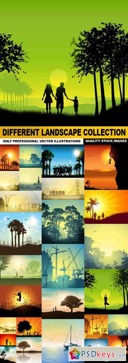 Different Landscape Collection - 30 Vector