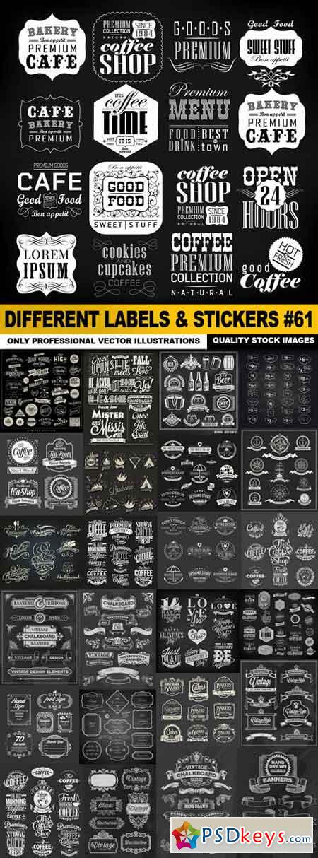 Different Labels & Stickers #61 - 25 Vector