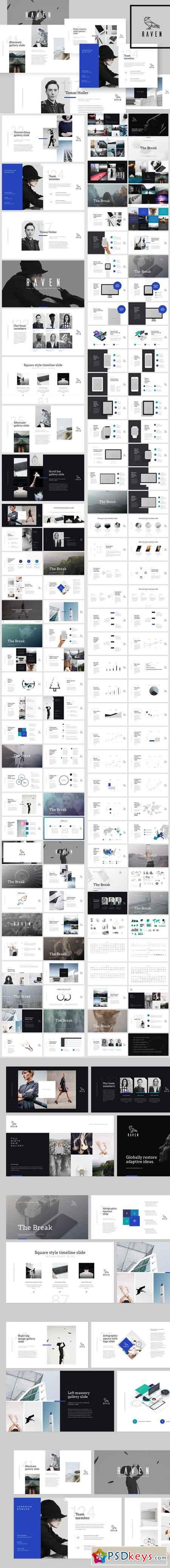 raven keynote presentation + bonus 640967 » free download, Powerpoint templates