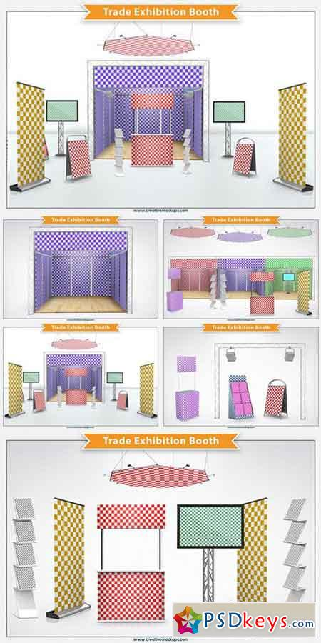 Exhibition Booth Vector Free Download : Trade exhibition booth free download photoshop