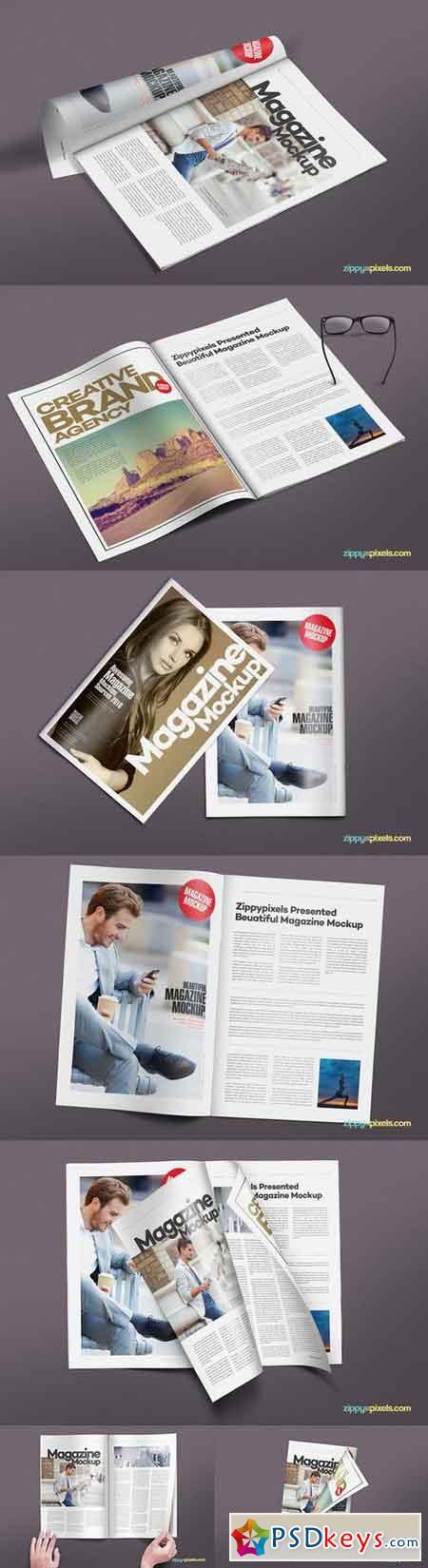 14 Magazine Mockups Vol. 7 561288