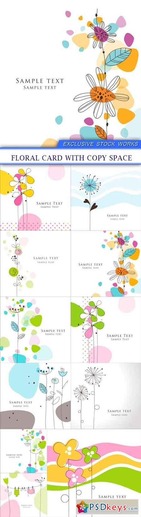 Floral card with copy space 11X EPS