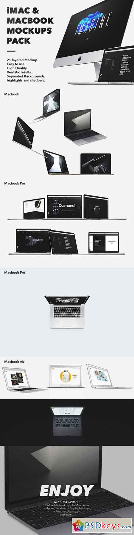 iMac & Macbook Mockups pack 685907