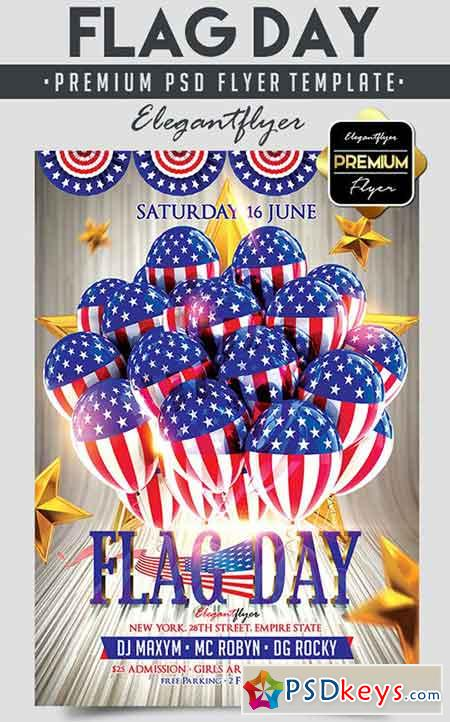 Flag Day – Flyer PSD Template + Facebook Cover 2