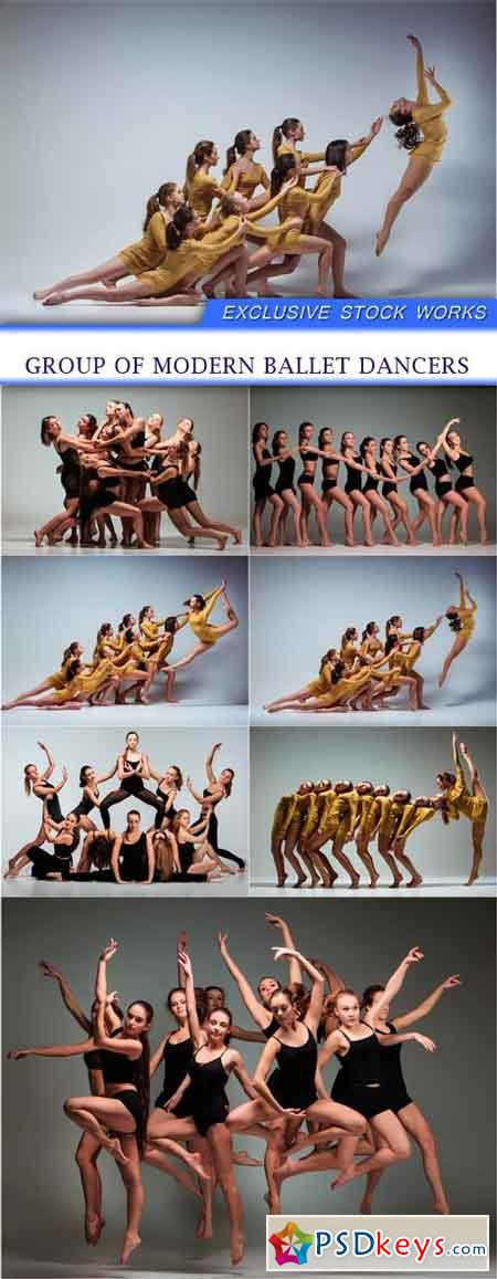 Group of modern ballet dancers 7X JPEG