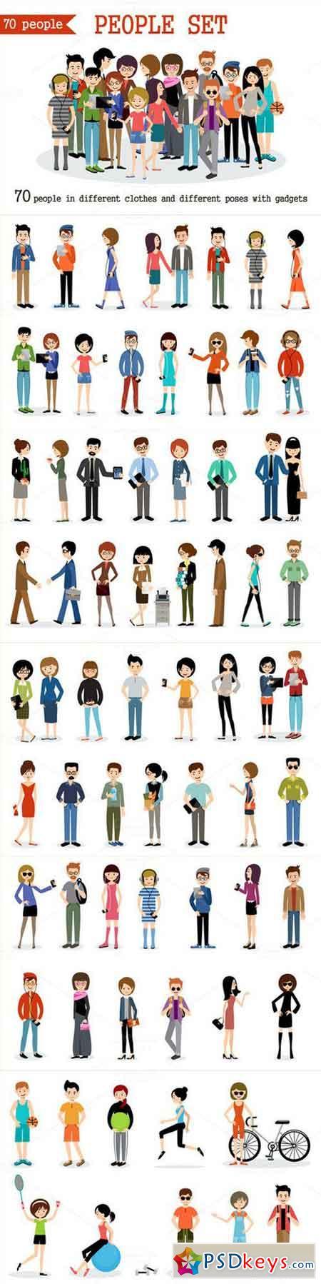 Set of modern people. 678040
