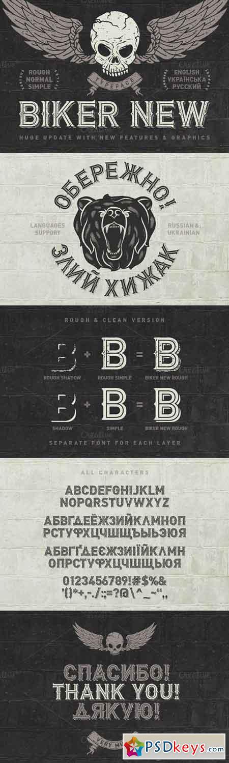 Biker Remastered font + graphics 681973