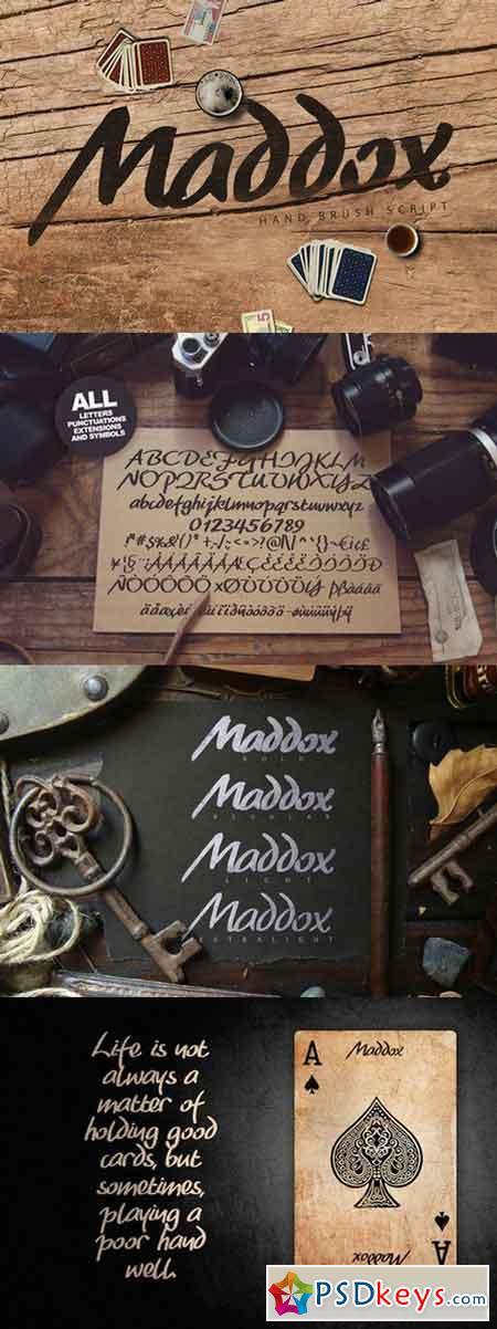 Maddox Brush Typeface 685647