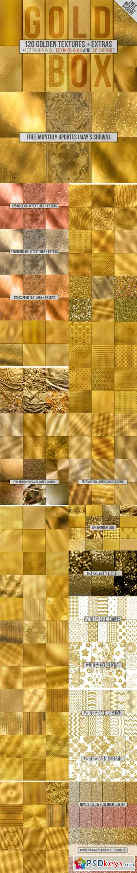 120 Gold Foil Backgrounds + Extras 675612 » Free Download