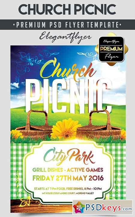 Church Picnic U2013 Flyer PSD Template + Facebook Cover