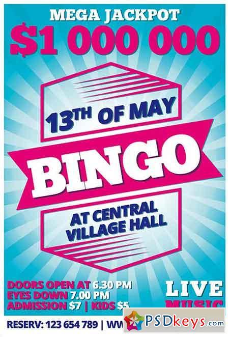 Bingo PSD Flyer Template + Facebook Cover