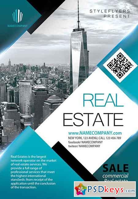 Real Estate PSD Flyer Template Facebook Cover Free Download - Real estate brochure template free download