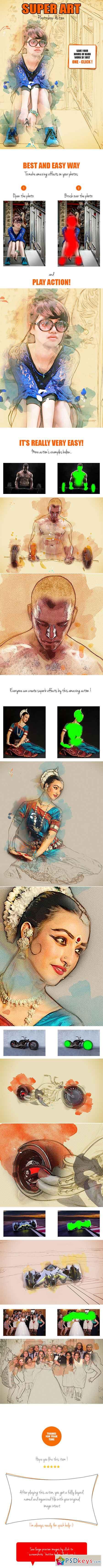 Super Art Photoshop Action 16081495