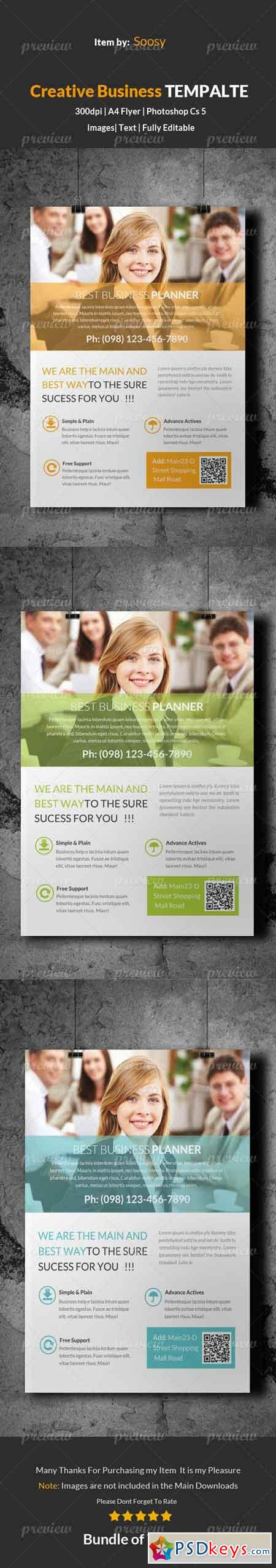 Corporate Business Solution Flyer Template 3623