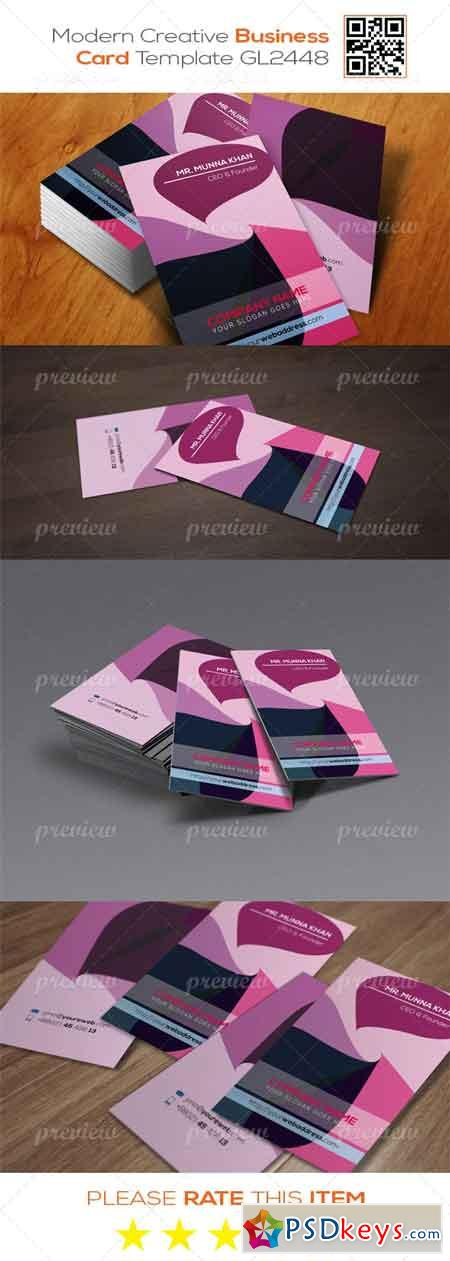 Modern Corporate Business Card Template GL2448 2935
