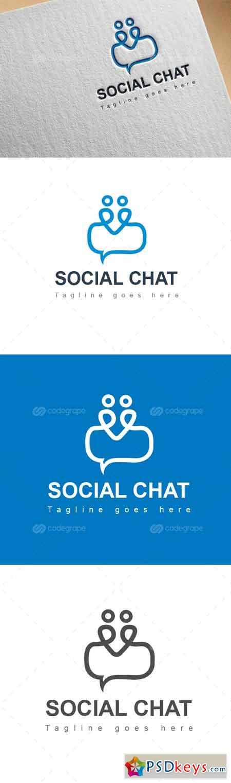 Social Chat Logo 6233