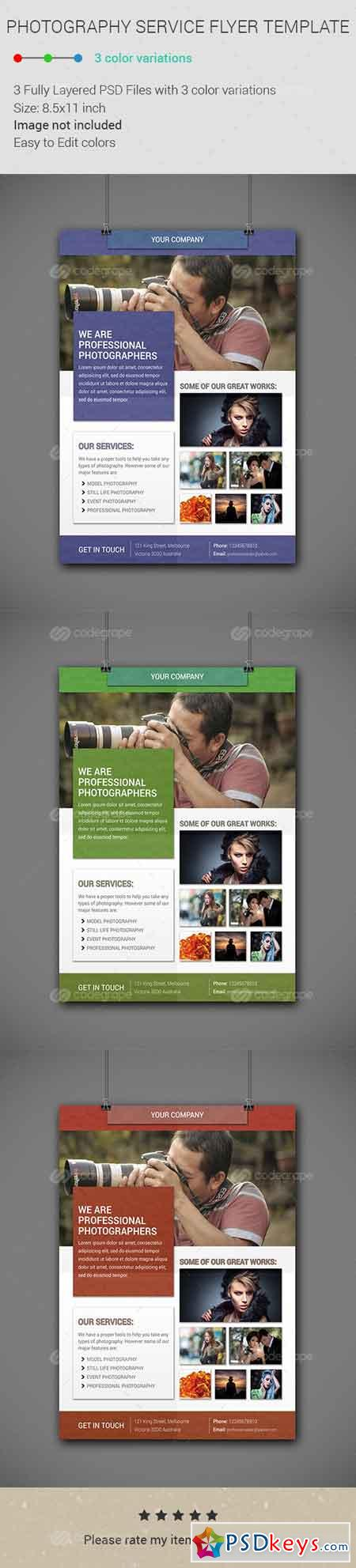 photography service flyer template photoshop photography service flyer template 6324