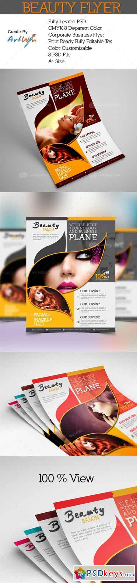 Beauty Parlour Flyer 6736