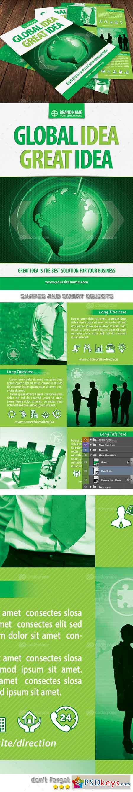 Green Business Idea Flyer Template 6660