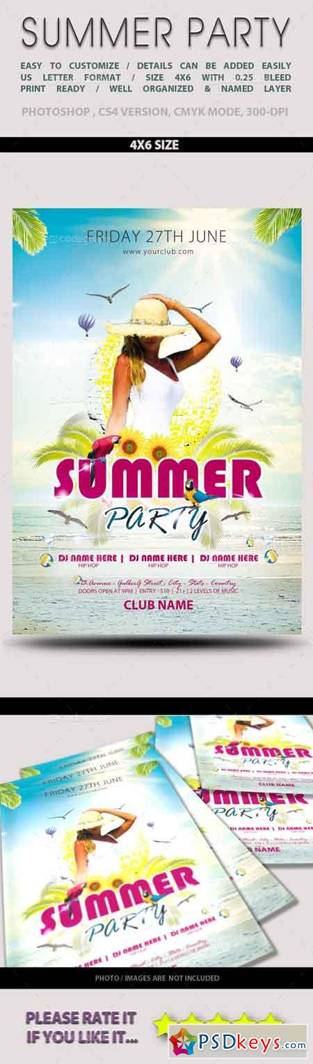 Summer Party Flyer 5818