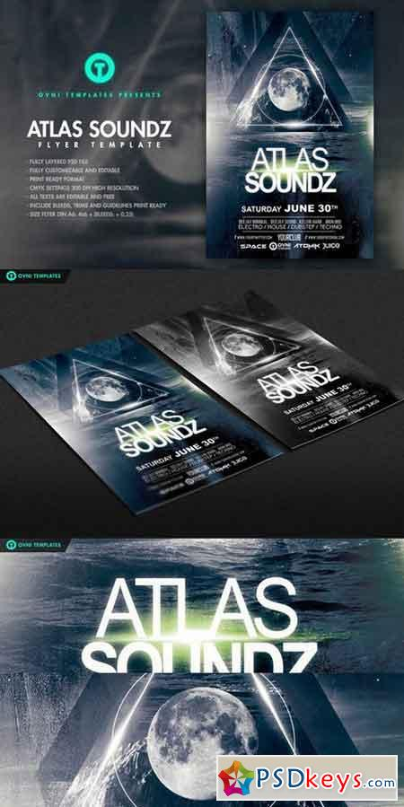 ATLAS SOUNDZ Flyer Template 687209