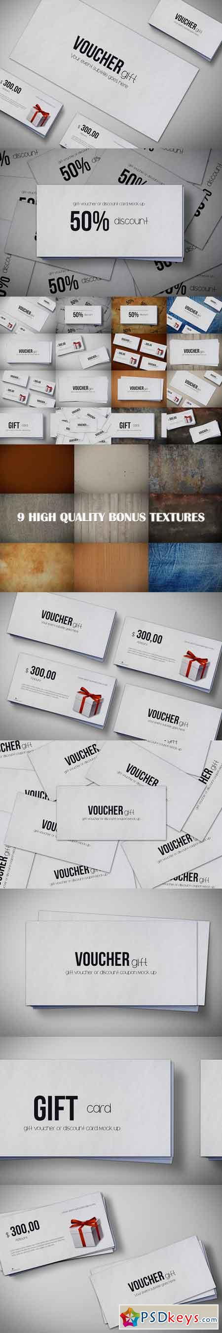 Gift voucher Mock Up Pack 685902