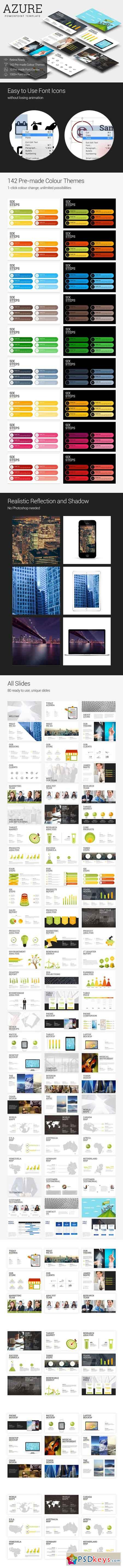 Azure - PowerPoint Template 686297