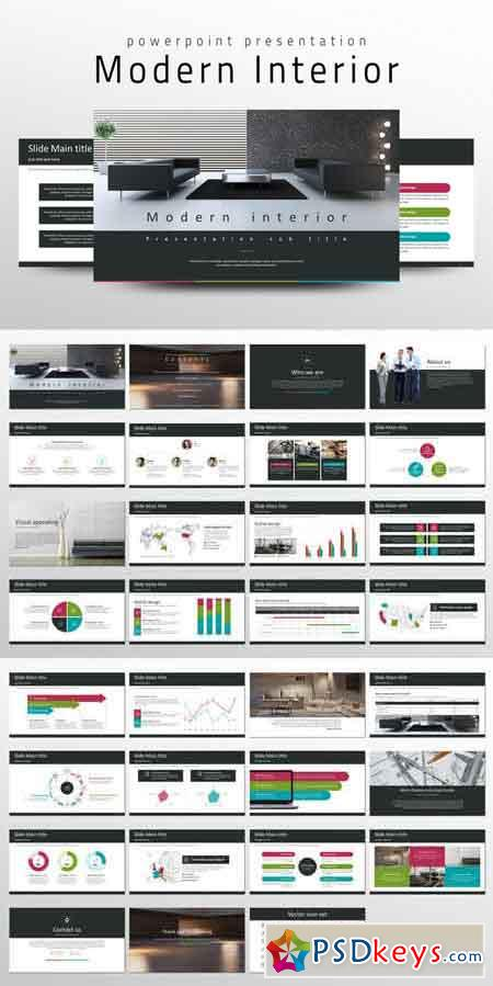 Modern Interior PPT Template 686174