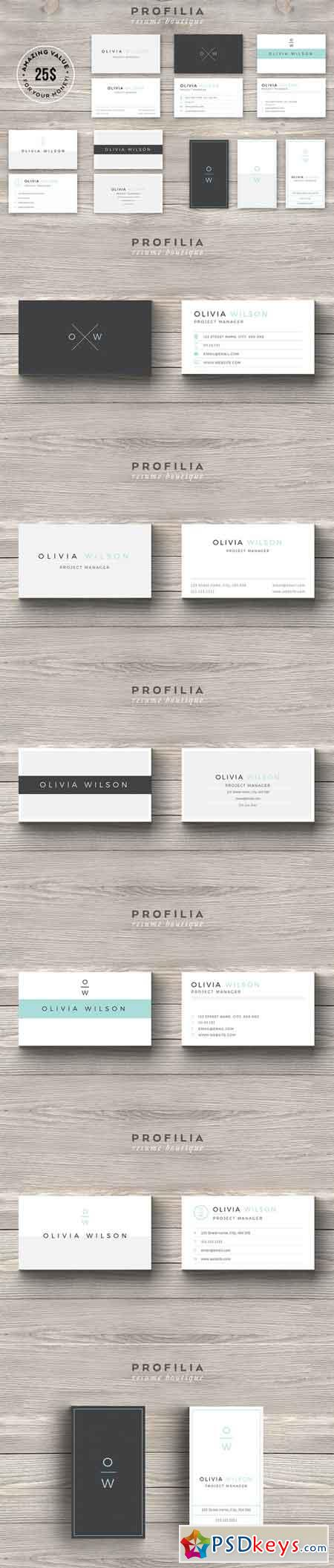 BUNDLE-Modern Business Card Template 660245