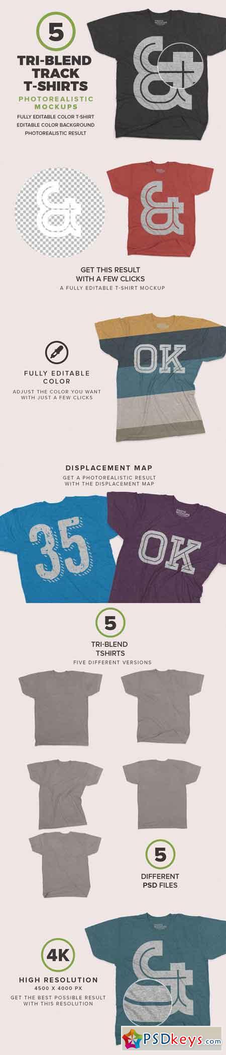 Tri-Blend Tshirts Mockups 684029